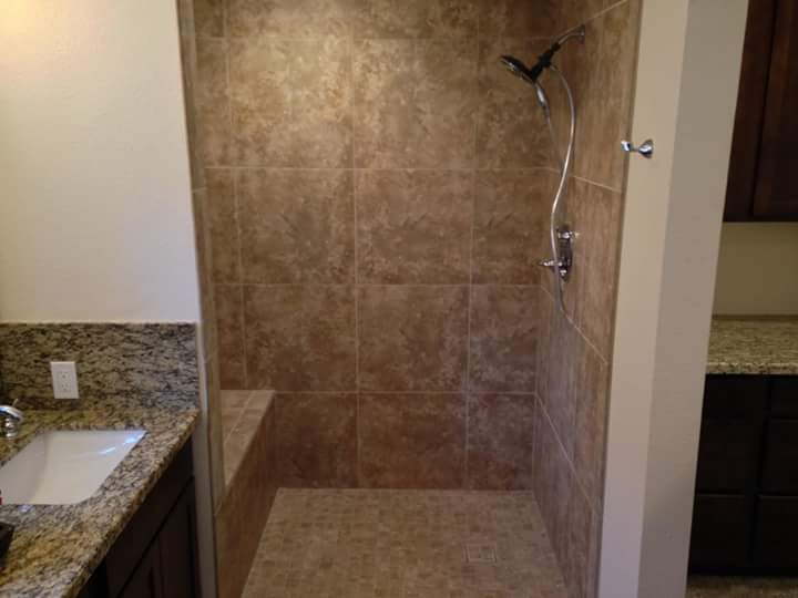 A CUSTOM SHOWER WE PLUMBED